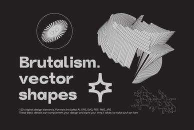 Brutalism Vector Shapes