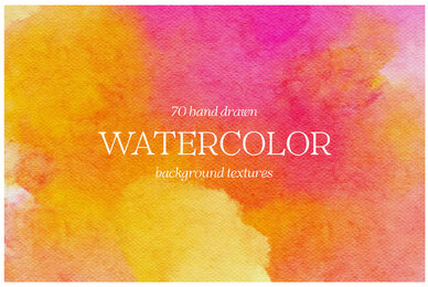 Handdrawn Watercolor Background Textures