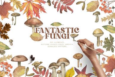 Watercolour Fantastic Fungi