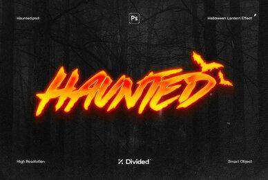 Haunted Halloween Lantern Effect
