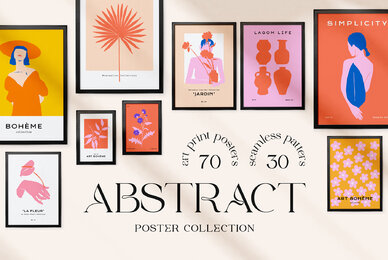 Abstract Floral Poster Collection
