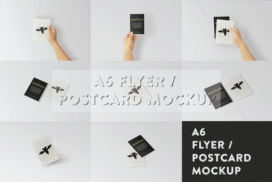 A6 Flyer Postcard Mockup