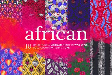 African Ankara Wax Patterns Set 2