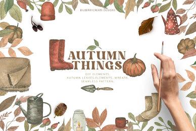 Watercolour Autumn Things