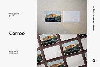 Correo Postcard Mockups