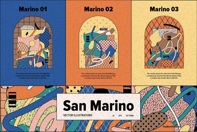San Marino: A Vector Illustration Collection From Our Own Design Studio