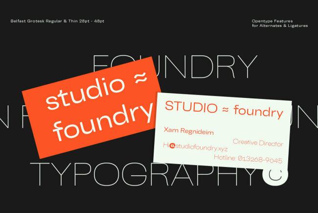Belfast Grotesk: A Contemporary Classic Sans Serif From TypoBureau Studio