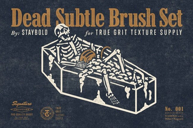Dead Subtle Brush Set From True Grit Texture Supply Adds Instant Texture and Grain