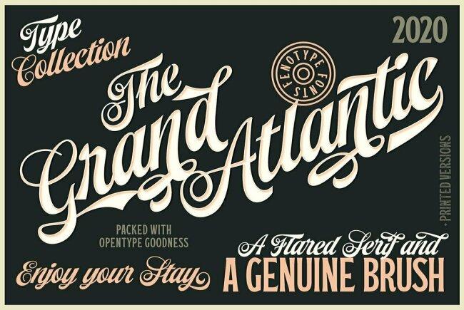 Grand Atlantic: A Sans Serif and Script Font Family From Emil Bertell