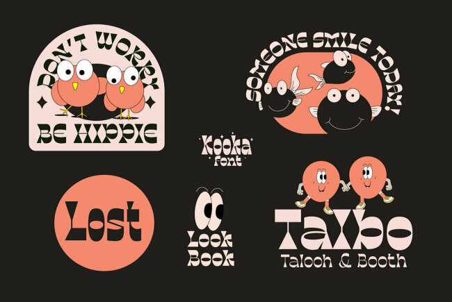 Kooka: A Groovy Retro Font Family From Kadek Mahardika