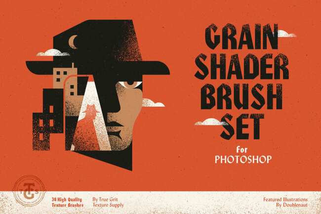 Grain Shader Brushes for Photoshop: A Diverse Collection Of Authentic Textures