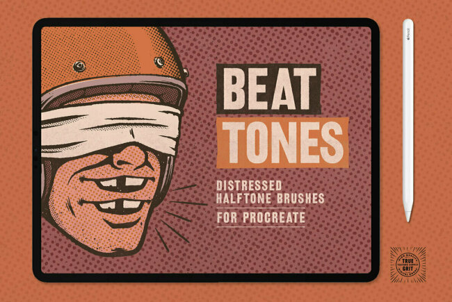Distressed Texturing With Beat Tones Halftone Brushes For Procreate