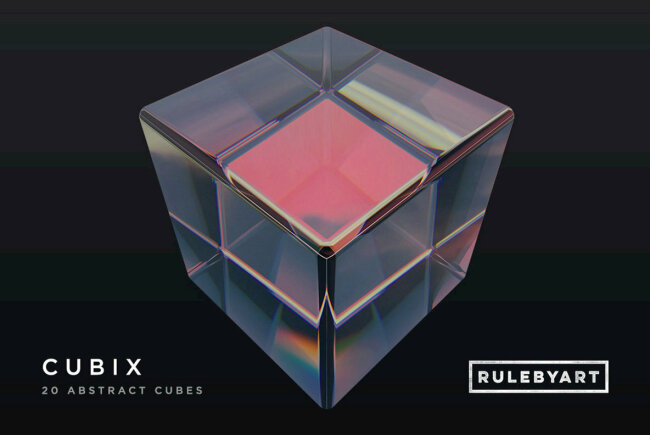 Cubix Cubes: Hyper-Realistic Three-Dimensional Abstract Cubes From RuleByArt