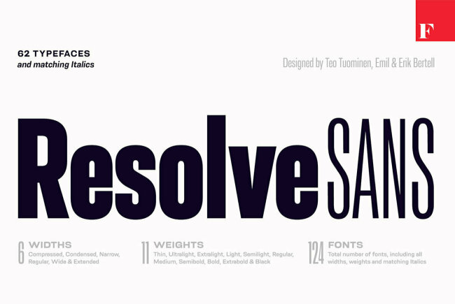 Newsletter Feature: Save 85% off Resolve Sans, Designed by Emil Bertell