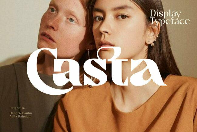 A Sophisticated & Elegant Serif Superfamily From Dirtyline Studio: Casta