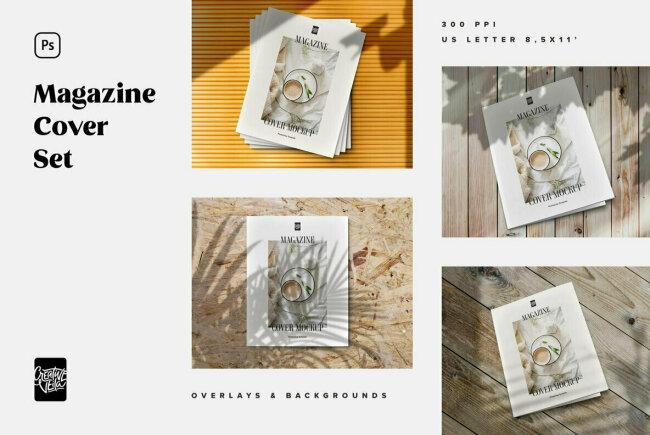 Build Stylish, Fashion-Forward Presentations With Magazine Cover Mockup Set