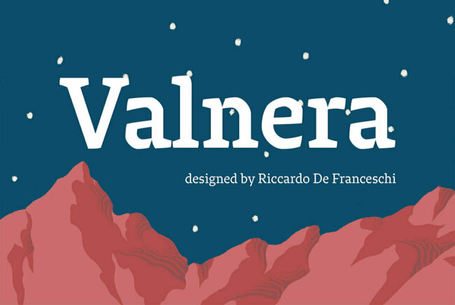 Valnera: A Distinctly Angular Low-Contrast Serif From CAST