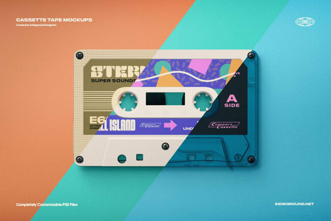 Mocking the Past with Cassette Tape Mockups