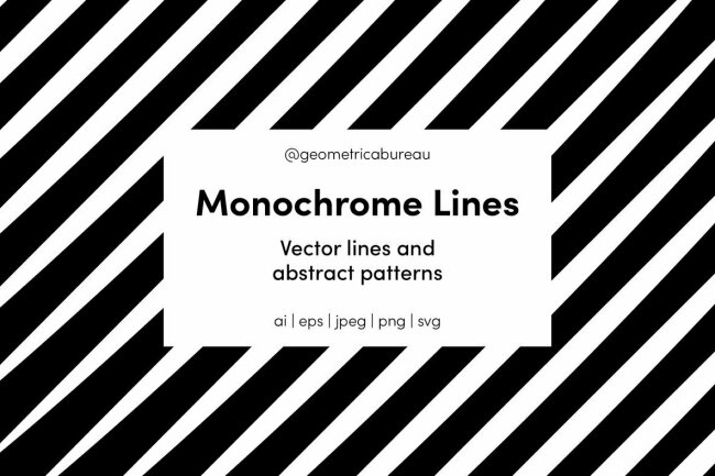 Monochrome Lines: Sheer Clarity from Geometrica