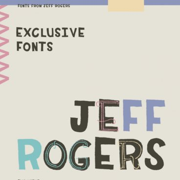 Exclusive Fonts From Jeff Rogers