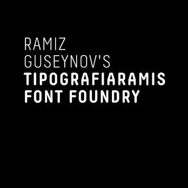 Ramiz Guseynov's TipografiaRamis Font Foundry