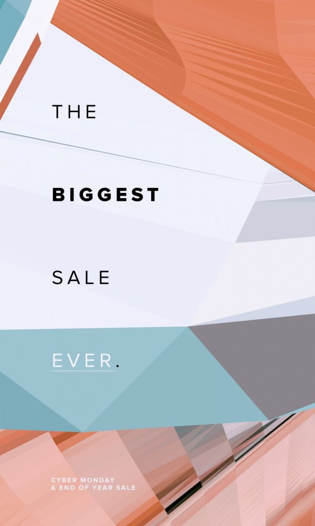 The Biggest Sale Ever, Starts Now.