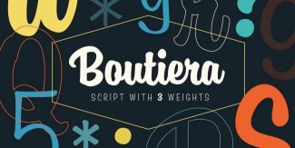 Find A Little Happiness In A Joyful, Casual Script: Boutiera