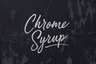 A Playfully Passionate Cursive Script From BLKBK: Chrome Syrup