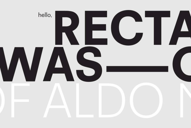 "Recta Is A Timeless Revival Of The ""Italian Helvetica"""