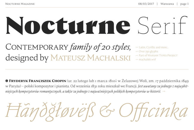 Explore Warsaw's Typographical History Through Nocturne Serif