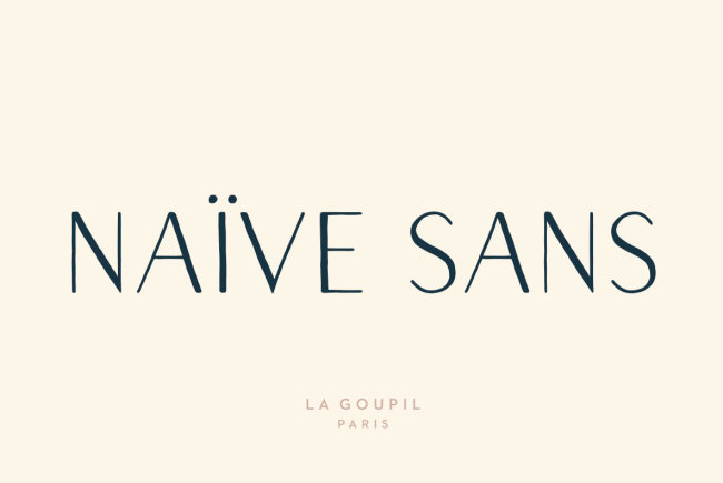 A Whimsical, Hand-Drawn Letter Set: Naïve Sans