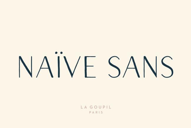 A Whimsical, Hand-Drawn Letter Set: Naïve Sans