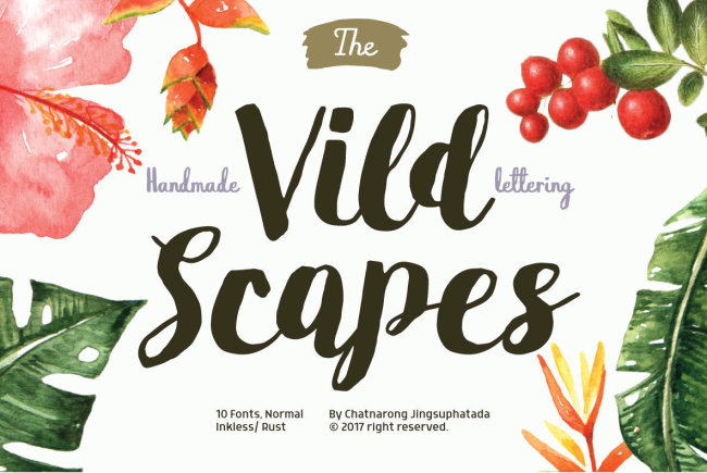 Handcrafted Vild Scapes Offers Organic, Inky Scripts