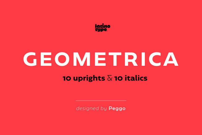 A Clean Sans Serif For UI/UX And App Designs: Geometrica
