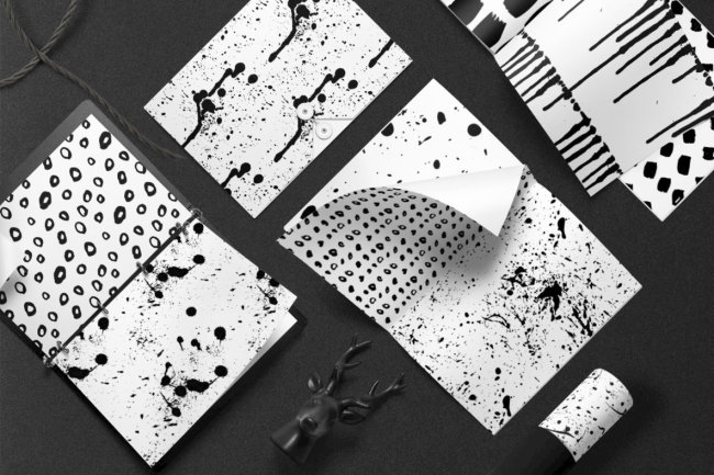 Realistic Vector Ink Patterns From Irene Demetri