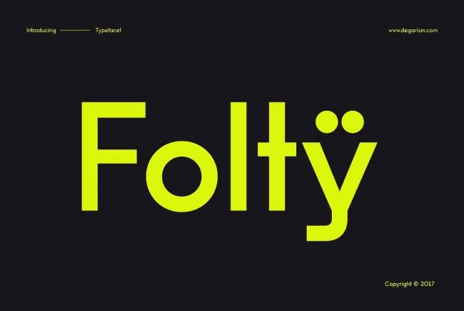 A New Geometric Sans Serif From A New Type Foundry: Folty