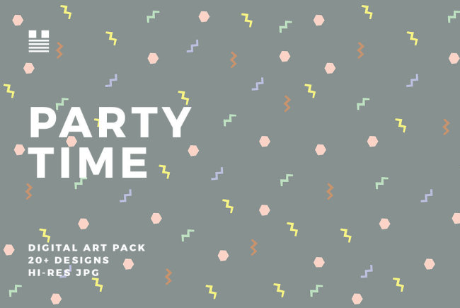 Party Time: A Festive, Fun Art Pack From Hello Mart