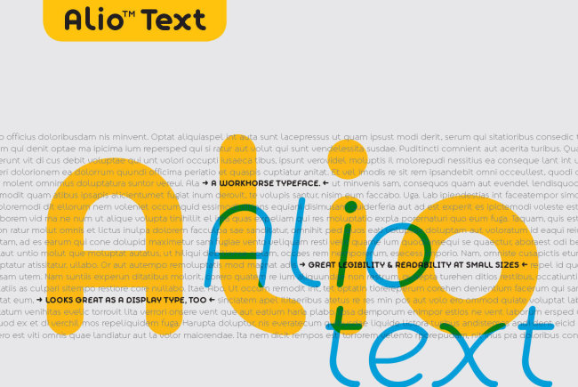 A Versatile Sans Serif From A New Foundry: Alio Text