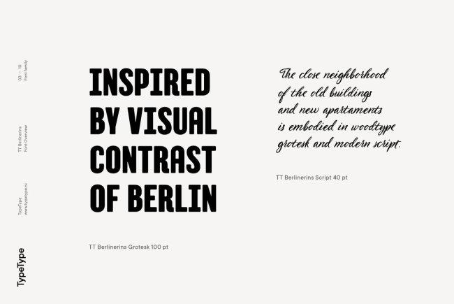 TT Berlinerins Pairs An Elegant Script With A Bold Grotesk