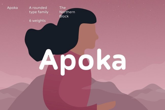 A Softly-Rounded Sans Serif From The Northern Block: Apoka