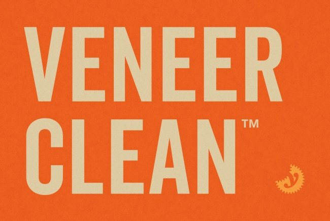 A Weathered Letterpress Favorite Looks Brand-Spanking New: Veneer Clean