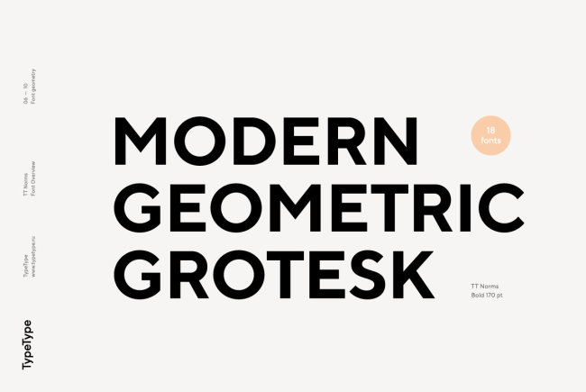 A Universal Geometric Grotesk From TypeType: TT Norms