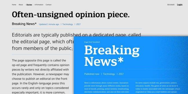 Engel New: A Sans And Sans Serif With A Mechanical Edge