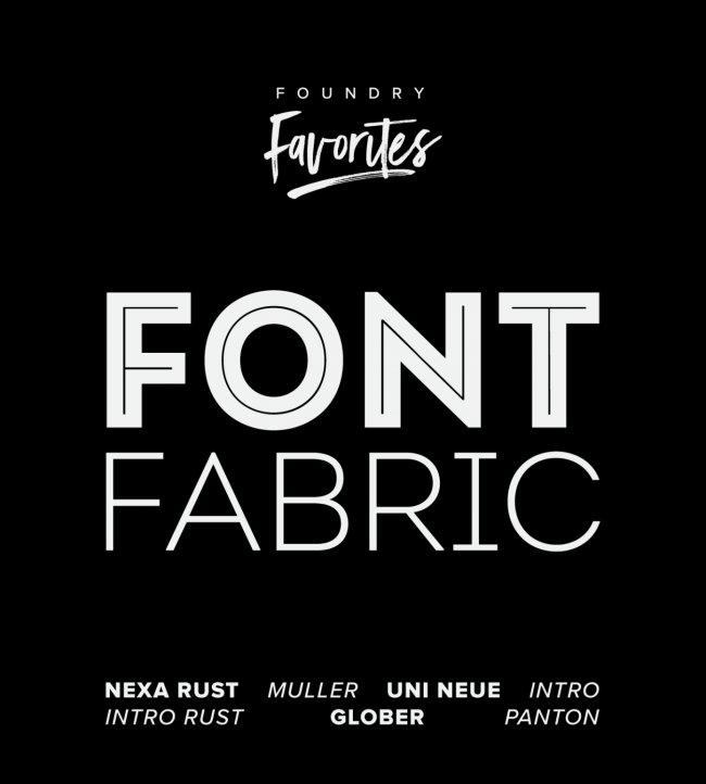 Foundry Favorites: Fontfabric