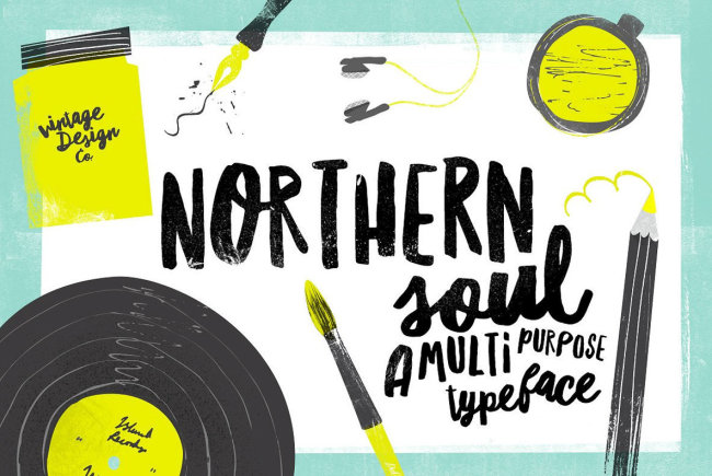 A Shabby-Chic, Handmade Brush Duo: Northern Soul