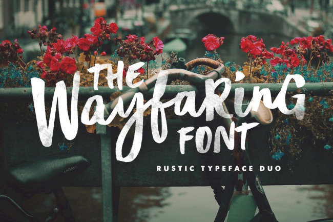 Rustic & Charming: The Wayfaring Font Duo From Set Sail Studios