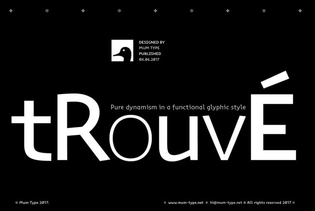 Trouvé Blends Antique Glyphs Into A Contemporary Sans Serif