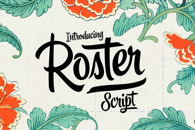 A Brush Script With Midcentury Charm: Roster From Emil Bertell