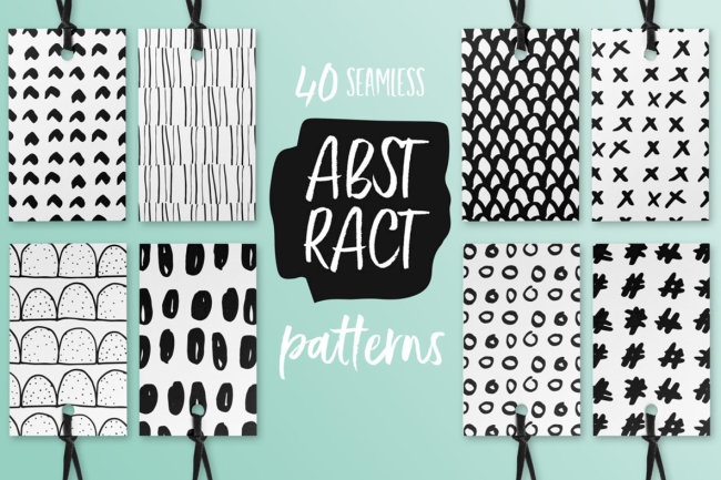 Fresh And Funky Abstract Seamless Patterns From Irene Demetri