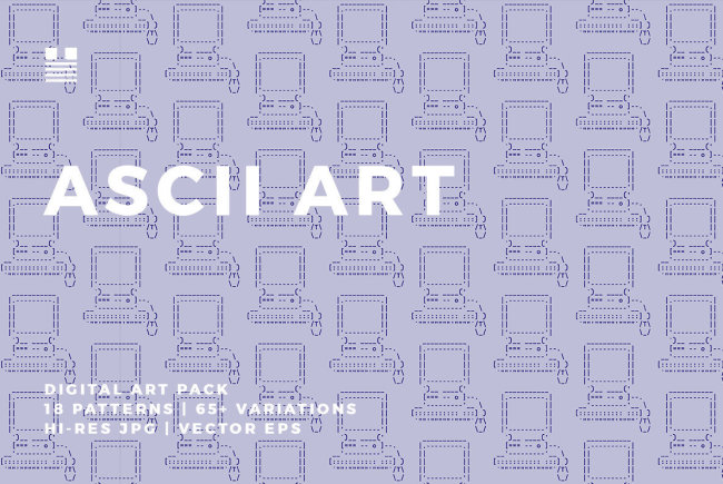 Classic, Quirky Patterns From Hello Mart: ASCII Art